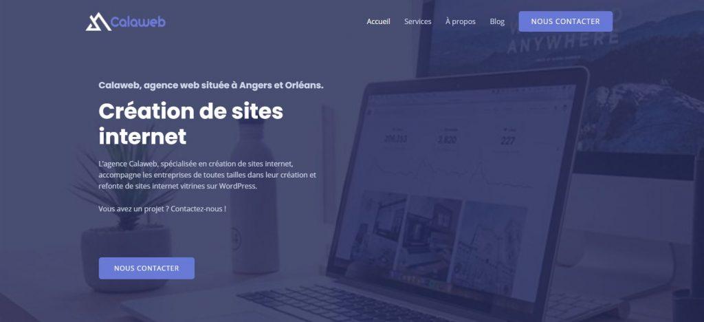 Calaweb, agence web spécialisée en création de sites internet vitrines à Angers et Orléans