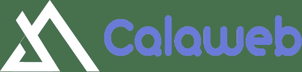 Logo Blanc et bleu Calaweb - Agence web spécialisée en création de sites internet sur WordPress